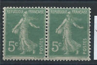 France N° 137** (MNH) Paire 1907