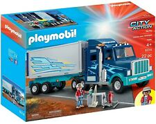 NEW Playmobil 9314 City Action Big Rig Lorry Truck Trailer 22 Piece Play Set