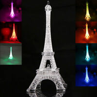 3D LED Desk Table Lamp Romantic Eiffel Tower Bedroom Night light Color Changing