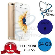 IPHONE 6s RIGENERATO GRADO B 64GB 64 GB ORO ORIGINALE APPLE + GARANZIA 1 ANNO