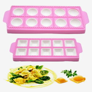 Dumpling Mold Maker Pasta Dough Press Ravioli Making Mould Kitchen Tool Tray