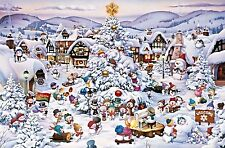 Jigsaw puzzle Seasonal Christmas Choir Celebration Caricature 1000 piece NEW