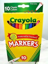 Crayola Fine Point Markers Nib - 10 Pack - Brilliant Long Lasting Colors