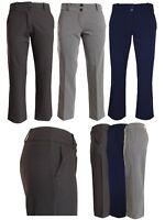 Girls School Trousers Women Office Work Smart Formal Black Navy Tailored Trouser