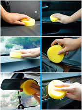 1pcs 100*30mm Round Car Cleaning Wash Sponge Auto Waxing Sponge Polishing Pad vf