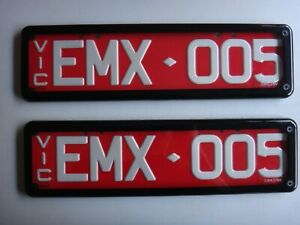 EMX-005 VICTORIAN CUSTOM NUMBER PLATE - SLIM LINE - FOR MAZDA MX5