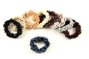 Haargummi Zopfhalter Haarband Perlen Haarschmuck Jewelry Fashion A073