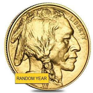 1 oz Gold American Buffalo $50 Coin BU (Random Year) Guaranteed Authentic!!!
