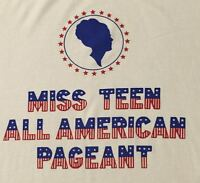 "VINTAGE 90'S  ""MISS TEEN"" T-SHIRT - PRE-OWNED - WHITE - UNISEX - XL - JERZEES"