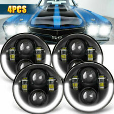 "DOT 4PCS 5 3/4"" 5.75 Projector Hi/Lo DRL LED Headlights Sealed Beam Lamp Bulbs"
