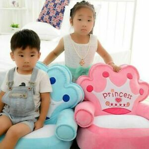 Baby Bean Bag Cartoon Crown Seat Sofa Baby Chair Toddler Nest Puff Seat Bean Bag