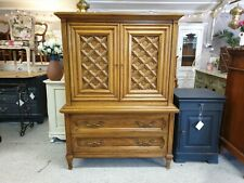 SUPERB SOLID OAK THOMASVILLE CHEST OF DRAWERS TALLBOY