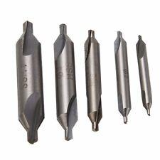 5Pcs HSS Center Drill Set Countersinks 60 Degree Angle Bit Tool 1.5/2/2.5/3/4mm