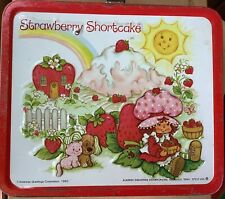Vintage Strawberry Shortcake 1981 Metal Lunchbox  Good Handle