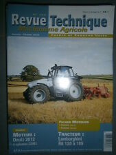 Lamborghini tracteur R6 130 140 160 175 185 : revue technique RTMA 188