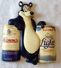Original vintage HAMMS HAMM'S BEER BEAR Vacuform 2 Beer ADVERTISING BAR SIGN