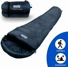 ANSIO Mummy Sleeping Bag 3-4 season Water resistant, Ideal for Camping/Hiking