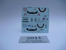 2011 + 2012 - Driver MercedesGP Michael Schumacher Figur Decal 1/18 Waterslide