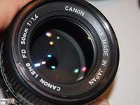 Canon FD 50mm 1:1,4 Objektiv lens Standardobjektiv für A1, F1, T90 etc.