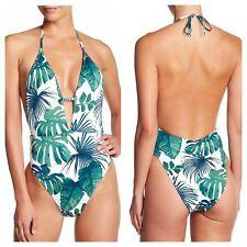61e3a59fb7ee5 The Bikini Lab FRONDS Tropical Leaf Print One Piece Swimsuit Swimwear  Womens NWT