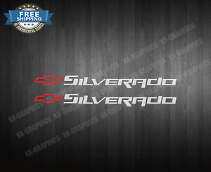 2 DECAL STICKERS FOR CHEVROLET SILVERADO CHEVY BOWTIE STICKER
