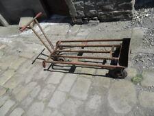 antique industrial mill bale cart heavy steel art deco multi use retro trolley ?