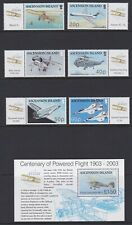 ASCENSION 2003 MINT Powered flight centenary set & sheet sg878-884 MNH