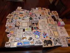 Huge Lot of Wood Rubber Stamp Sayings Words picture 100 +  good used