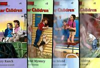 Lot 4 The Boxcar Children Books 1 - 4 Surprise Island Yellow House Mystery Ranch