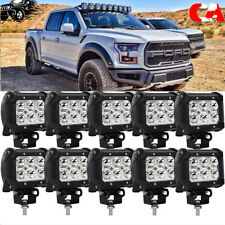 10X 18W Pods Square LED Work Light Offroad Fog Driving DRL SUV ATV Truck 4WD