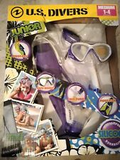 New listing U.S. Divers Youth Silicone Snorkeling Set Purple/white includes travel bag! NEW