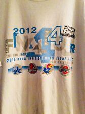 2012 NCAA Final Four Basketball White T-Shirt NEW ORLEANS Size 2XL EUC (T1)