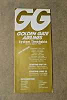 Golden Gate Airlines System Timetable - April 27, 1980 - New Service
