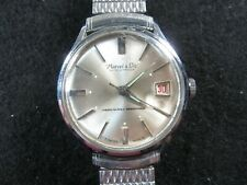 Vintage MARCEL & Cie Automatic w/Date watch  Serial 1281 - Runs - Stretch Band