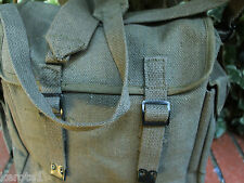 Army Canvas Webbing Haversack Retro Olive Bag 9L Fishing Camping Uni Festival