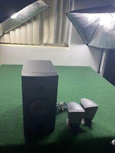 Harmon Kardon Hk395 Subwoofer Computer Speaker 3 pc Set Tested Works Fast Ship