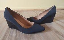 "CALVIN KLEIN Black Wedge Shoes 4"" Heel Women's Size 6 ..Comfortable Dress Shoes!"