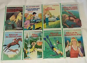 Lot 8 Livres Bibliothèque Verte Alice de Caroline Quine #1 no Rose Oui-Oui les 5