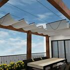 Windscreen4less Retractable Shade Canopy Replacement Cover for Pergola Frame ...