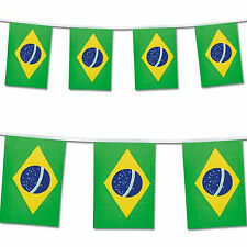 Brazil Bunting Flags 7 Metres 25 Flags Olympic Games World Cup Football Carnival