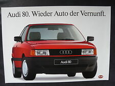 Audi 80 - Leserwahl Auto der Vernunft - Prospektblatt Brochure 1988