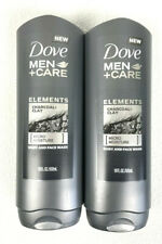 Dove Men +Care Elements Charcoal Clay Micro Moisture Body And Face Wash 18oz X 2