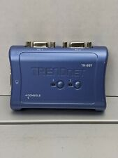 TRENDnet 2-Port USB KVM Switch with 2 4ft. Cables TK-207 Pre-owned