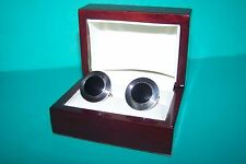 Alfred Dunhill Sterling Silver Cufflinks Dunhill Sterling & Onyx Cufflinks