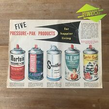 VINTAGE 1956 PRESSURE-PAK MORTEIN  ORIGINAL PRINT ADVERTISEMENT