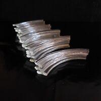 23 papilles demi-lune lustre cristal fait main art déco design XXe France N3446
