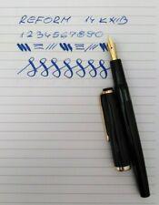 REFORM 4251 Black Fountain pen 14k Flex Nib Vintage RARE Excellent