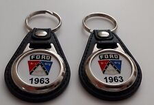 1963 FORD KEYCHAIN 2 PACK FOR GALAXY F100 THUNDERBIRD FAIRLANE TRUCK FALCON