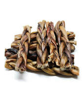 "(1) POUND OF 6"" INCH BRAIDED BULLY STICKS - ODOR FREE!! {APPROX. 12-15 PIECES}"