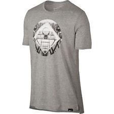 NWT Nike Mens Dri-Fit Swoosh Photo Hoop Regular BIG & TALL T-Shirt Grey Black M